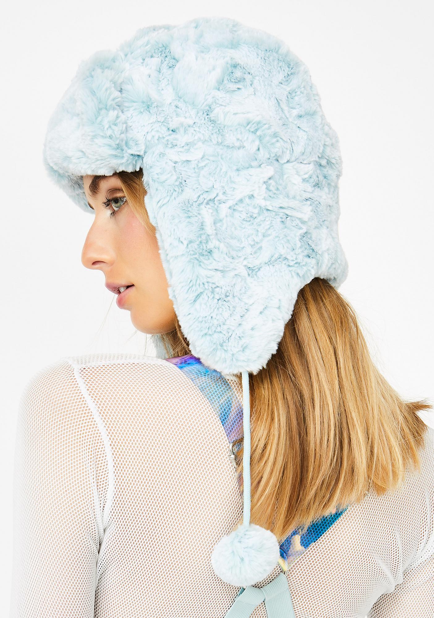 Club Exx Glacier Gurl Furry Hat