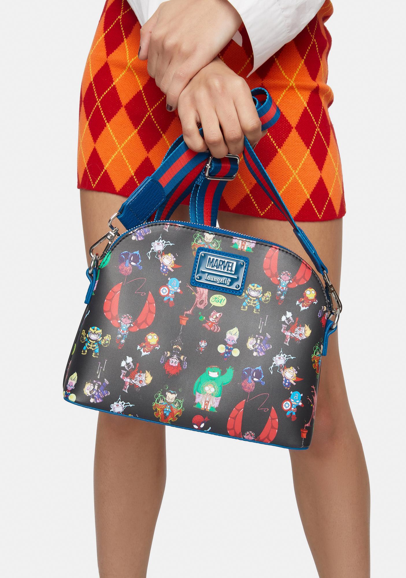 Loungefly X Marvel Chibi Crossbody Bag