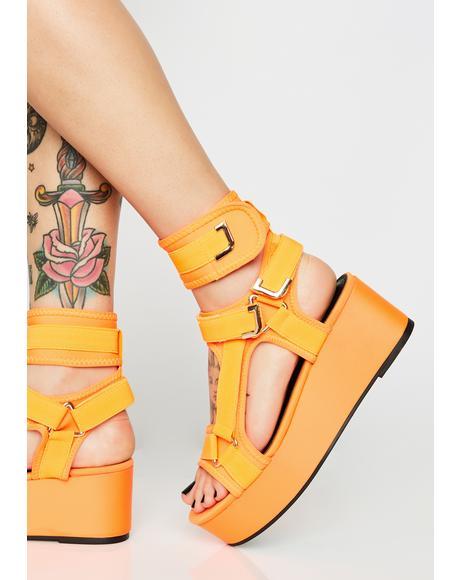 Juicy Insta Gossip Platform Sandals