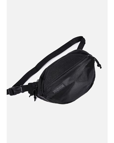 Black Mono Fifth Avenue Fanny Pack