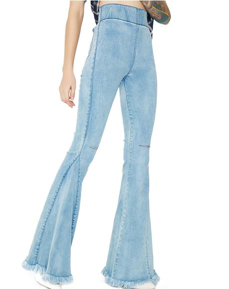 Cloud Nine Ring My Bell Flared Pants