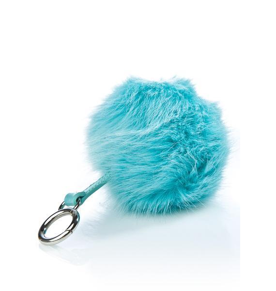 Skinnydip Mint Pom Pom Keychain