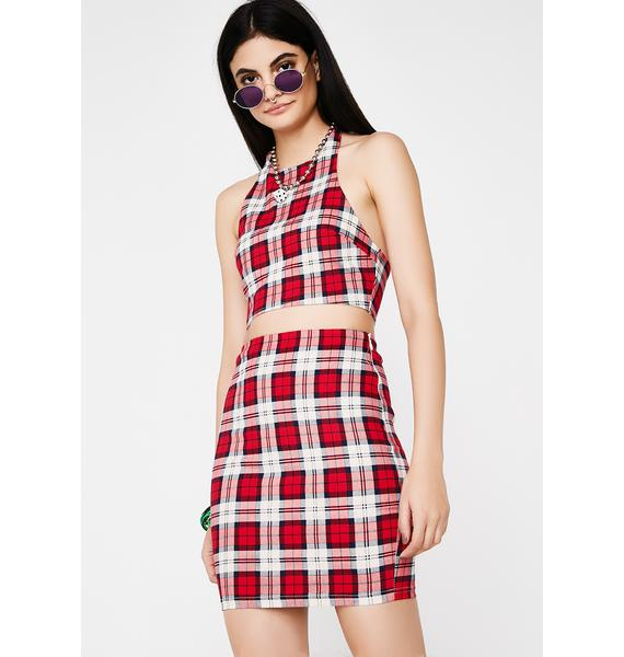 Detention Office Hours Plaid Set