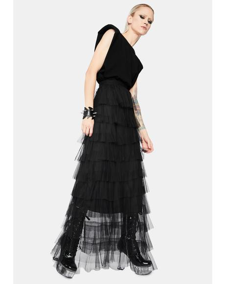 Damsel In Disturbia Tulle Maxi Skirt