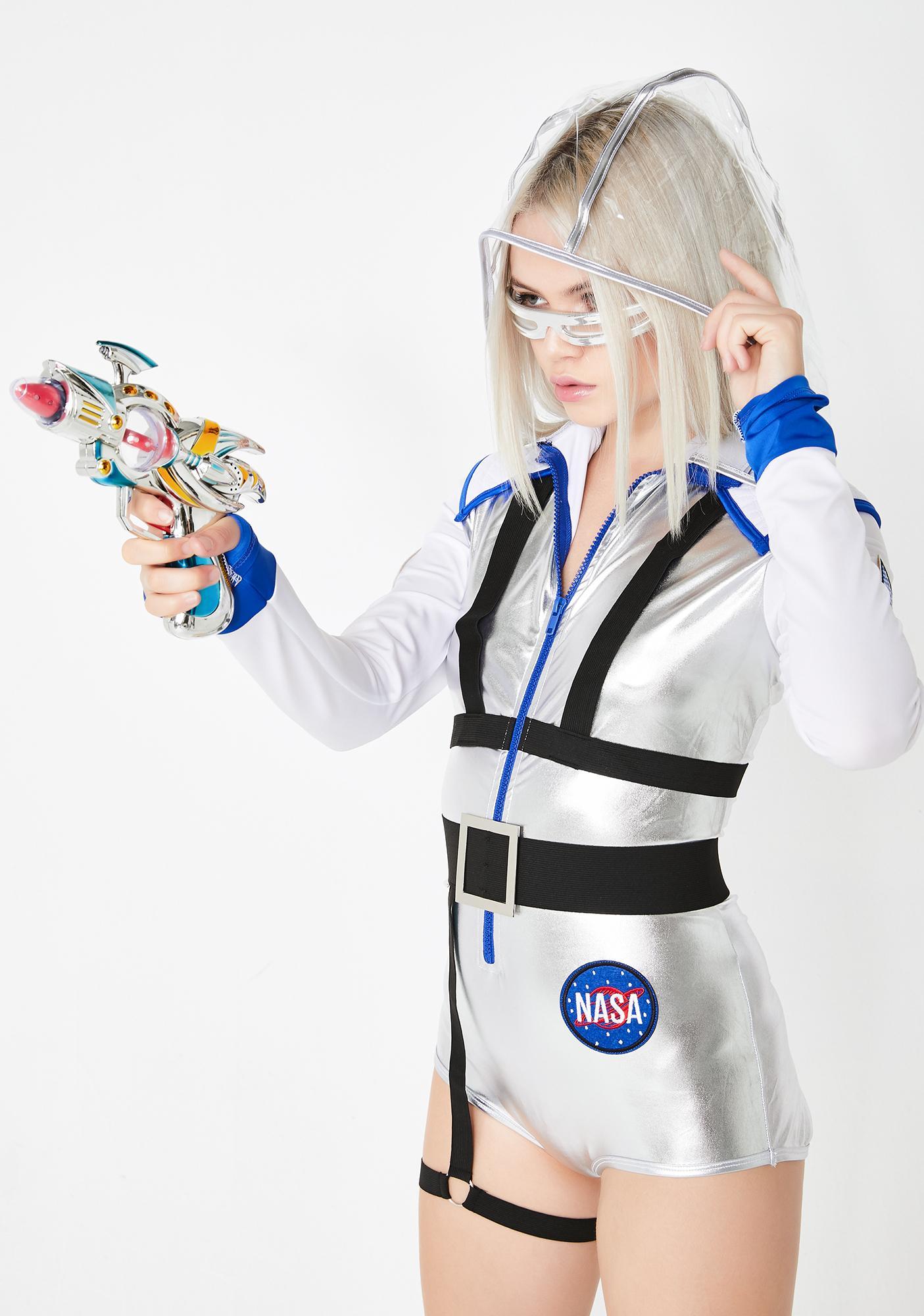 halloween three piece galaxy girl costume set silver | dolls kill