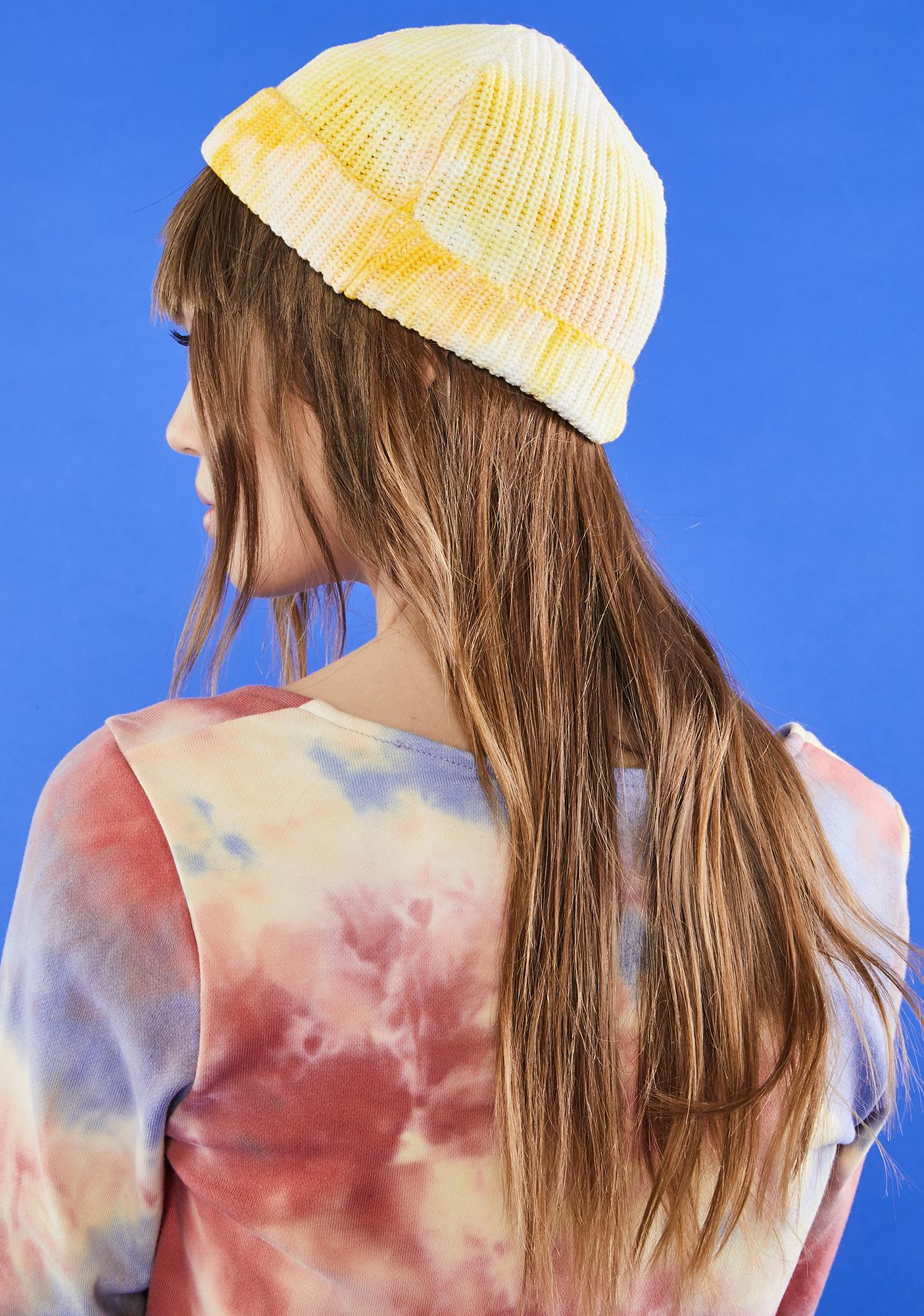 Sunny Chill Mode Tie Dye Beanie