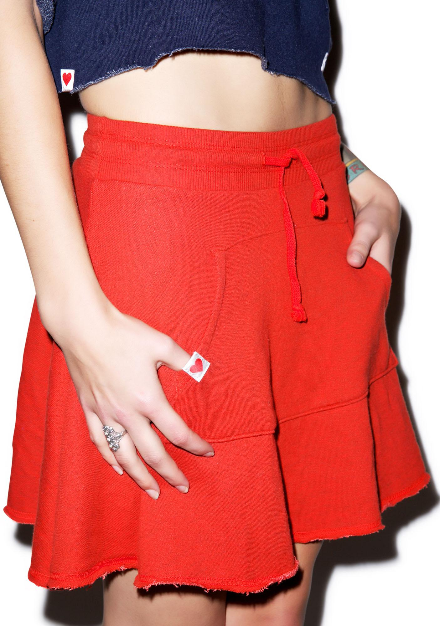 Wildfox Couture Classic Fox Athletic Skirt