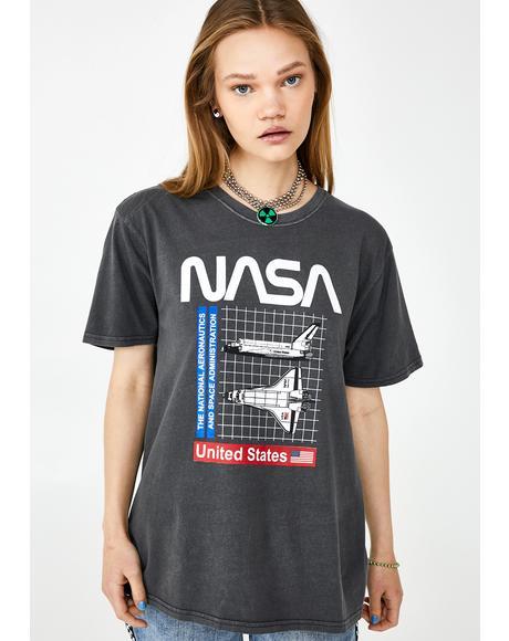 Nasa Shuttle Grid Graphic Tee