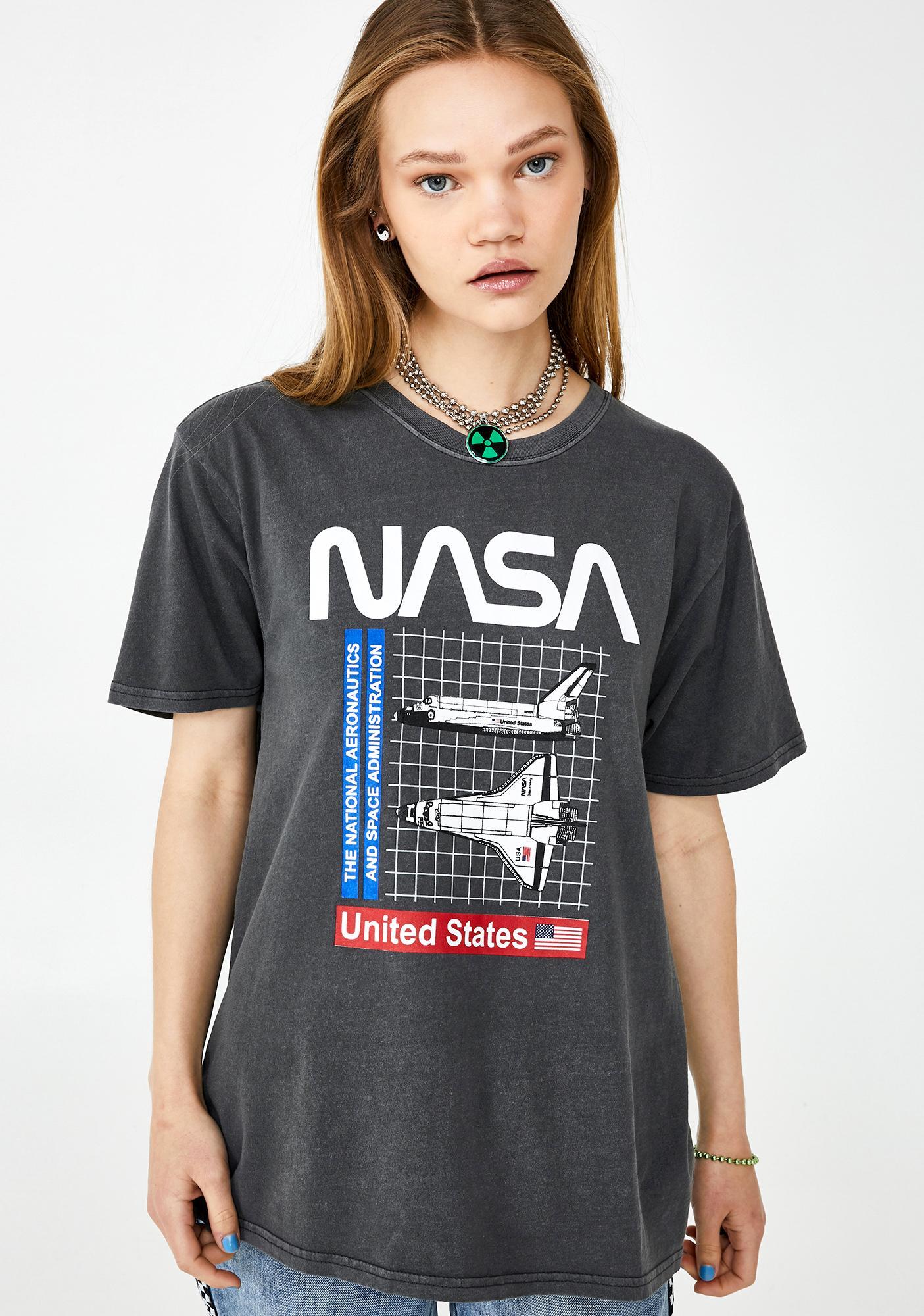 Desert Dreamer Nasa Shuttle Grid Graphic Tee
