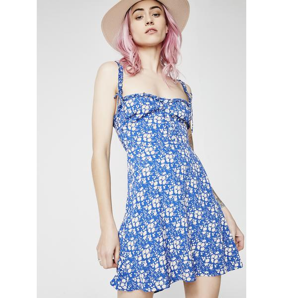 For Love & Lemons Zamira Button Front Tank Dress