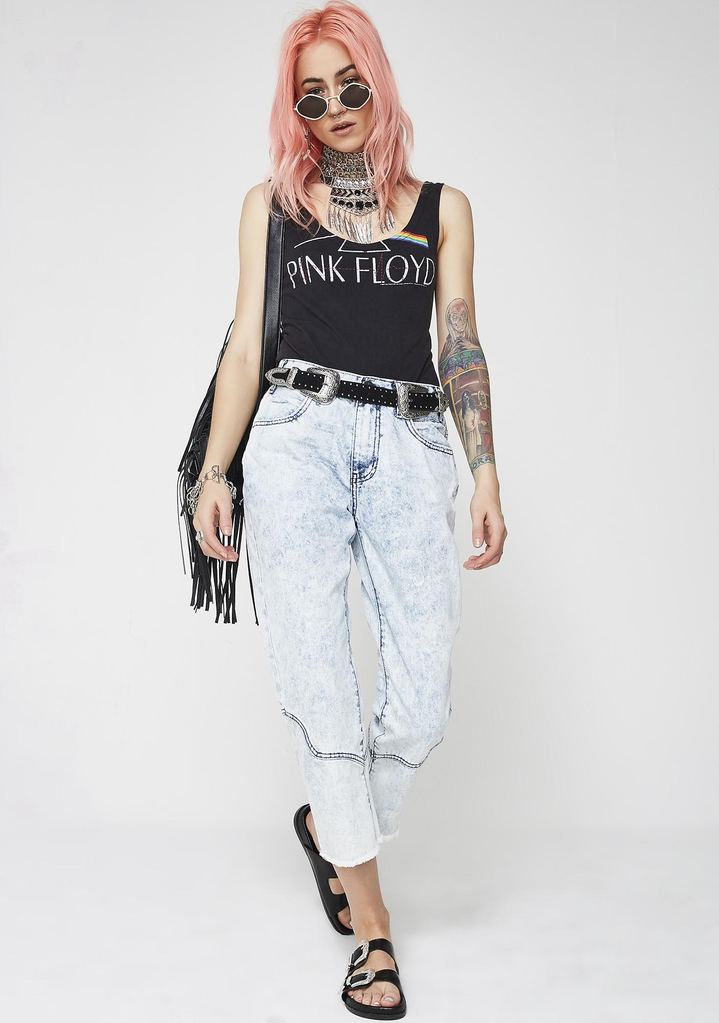 One Teaspoon Rocky Acid Low Waist Kick Flare Jeans