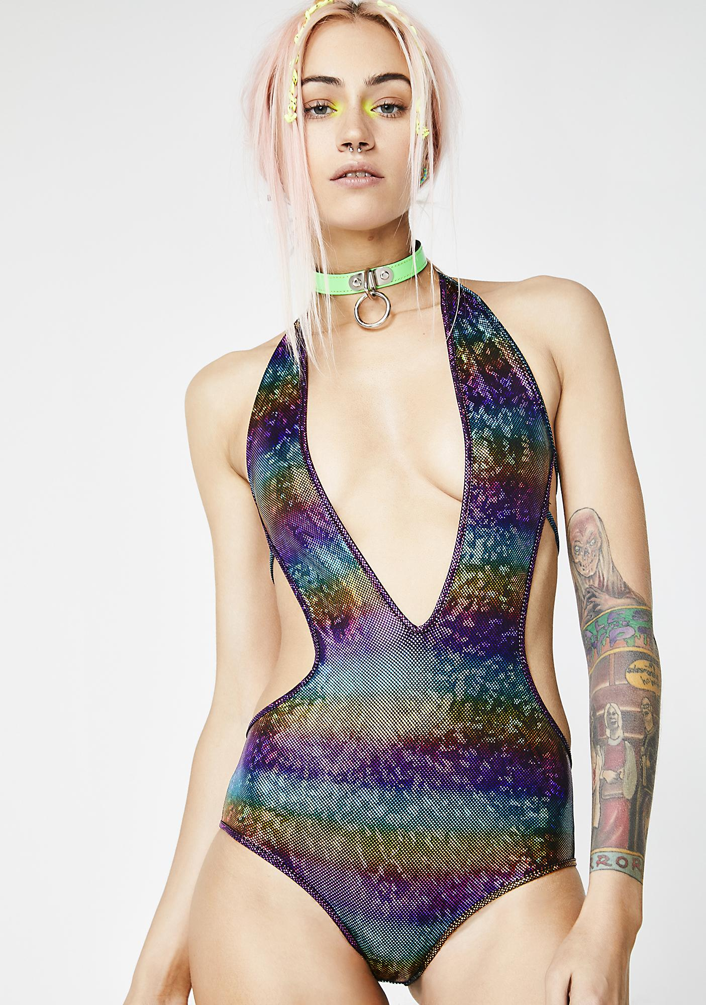 Darkside Of The Rainbow Bodysuit
