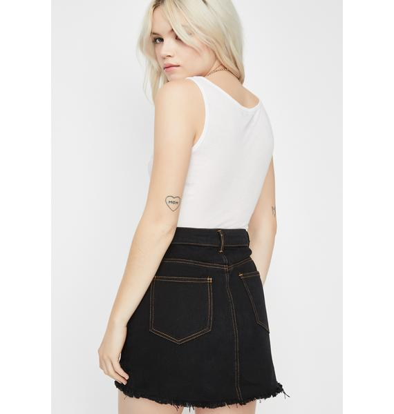 Patch Me Up Denim Skirt