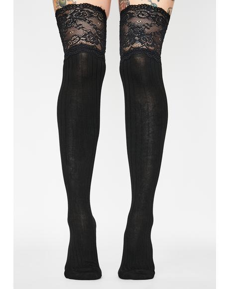 Night Vision Thigh High Socks