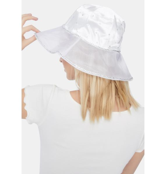 Pure Rich Girl Rhinestone Bucket Hat