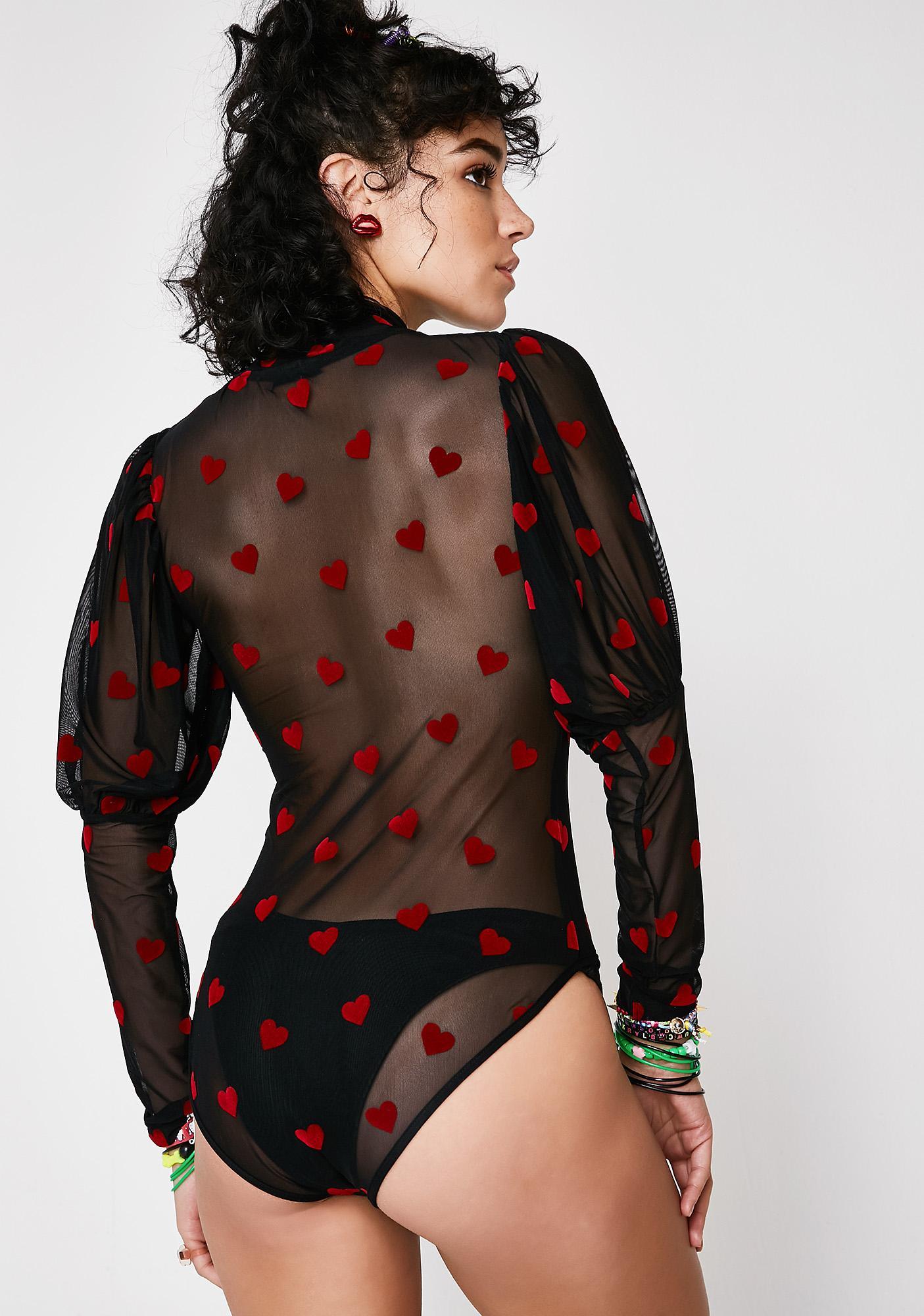 Lazy Oaf Sheer Romance Bodysuit