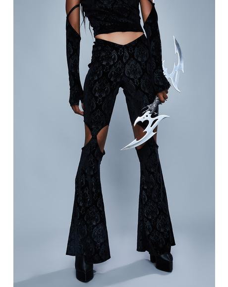 Too Far Gone Velvet Flare Pants