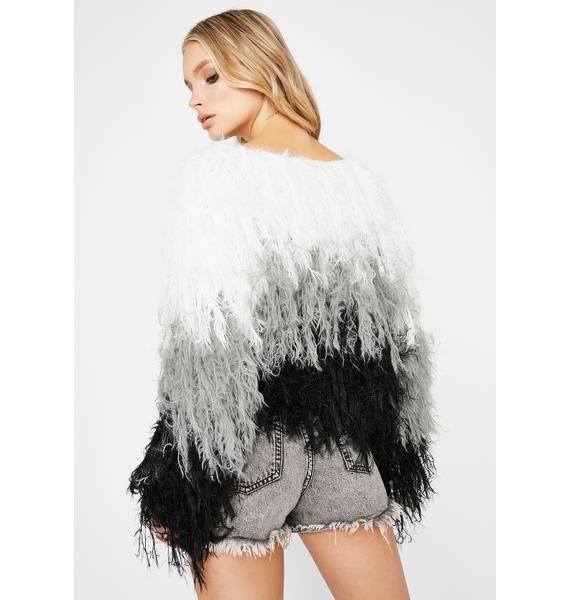 Icy Bird Is The Word Shaggy Sweater