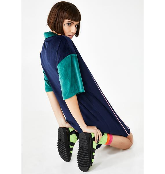 Lazy Oaf Touchy Feely Velour Dress