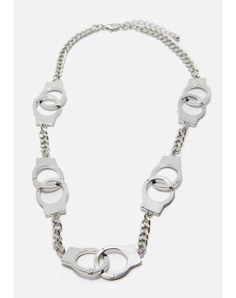 Under Control Handcuff Necklace