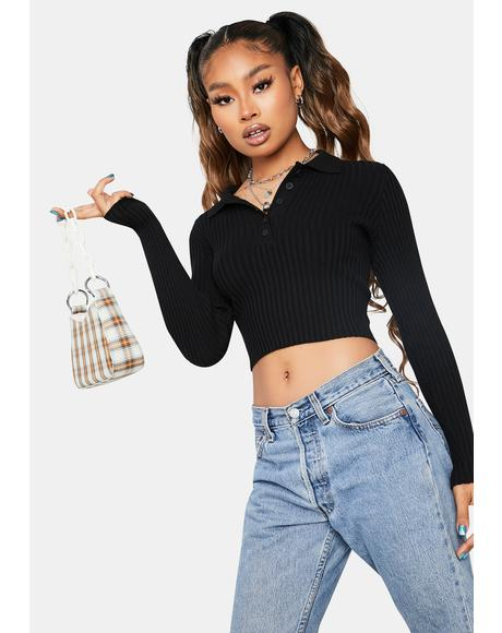 Overly Dramatic Long Sleeve Crop Top