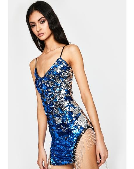 Royal VIP Bottle Service Sequin Dress