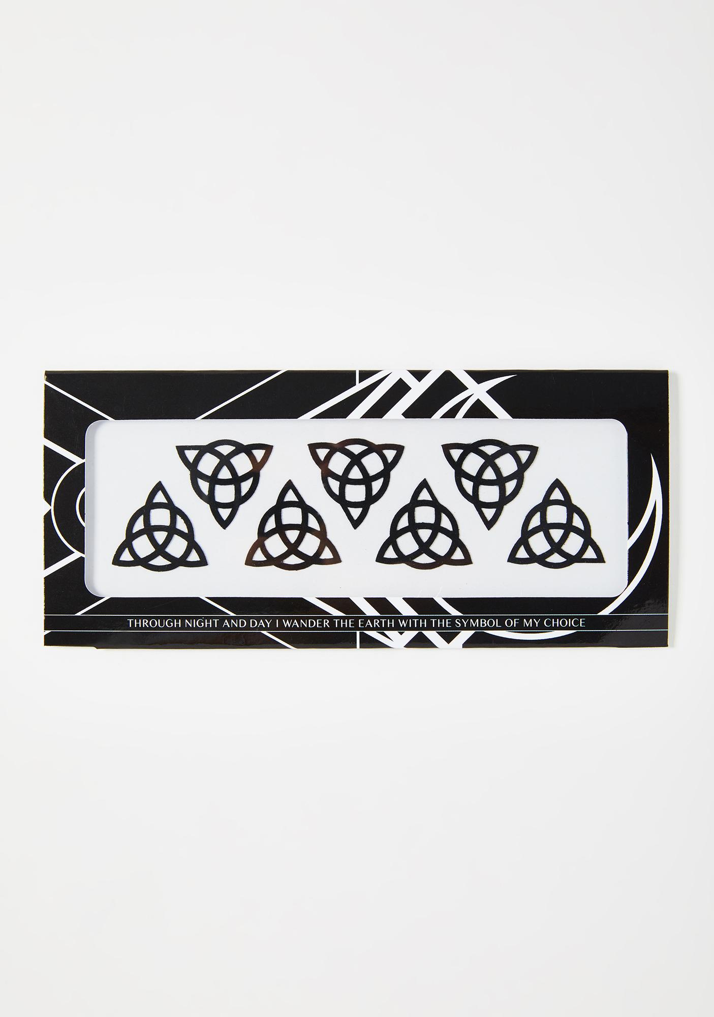 Magic Markings Triquetra Face Stickers