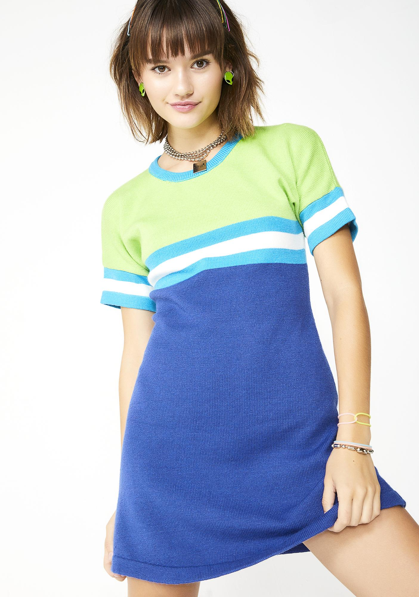 Elemental Like H2 O Sweater Dress by D E Li As By Dolls Kill