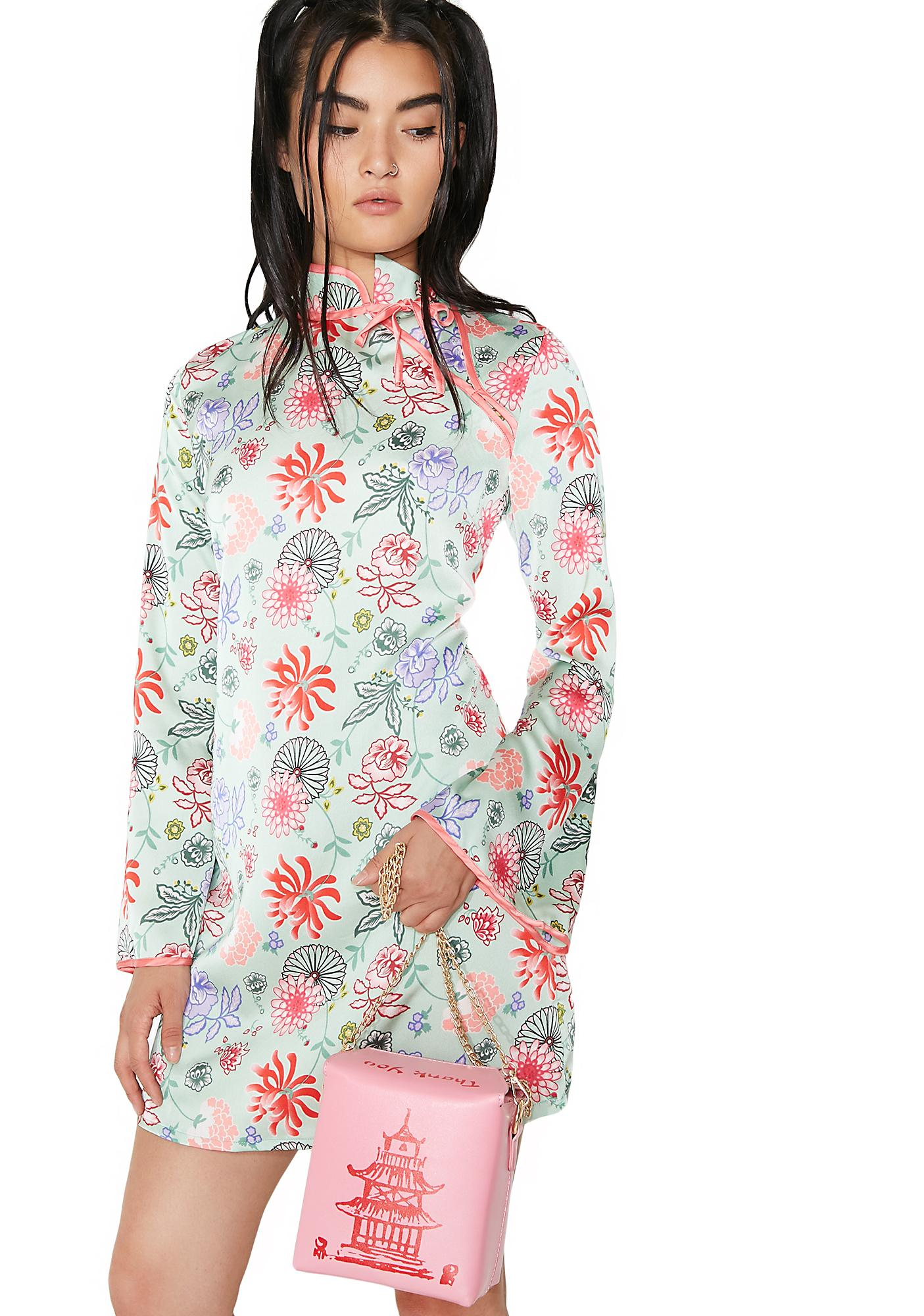 Glamorous Song Long Sleeve Floral Dress