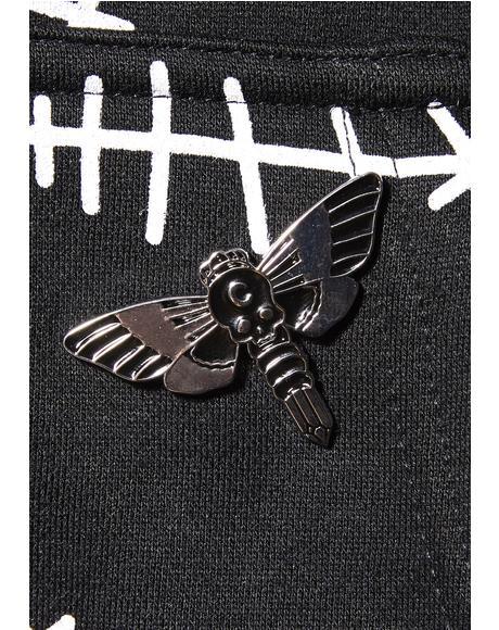 Moth Crystal Enamel Pin