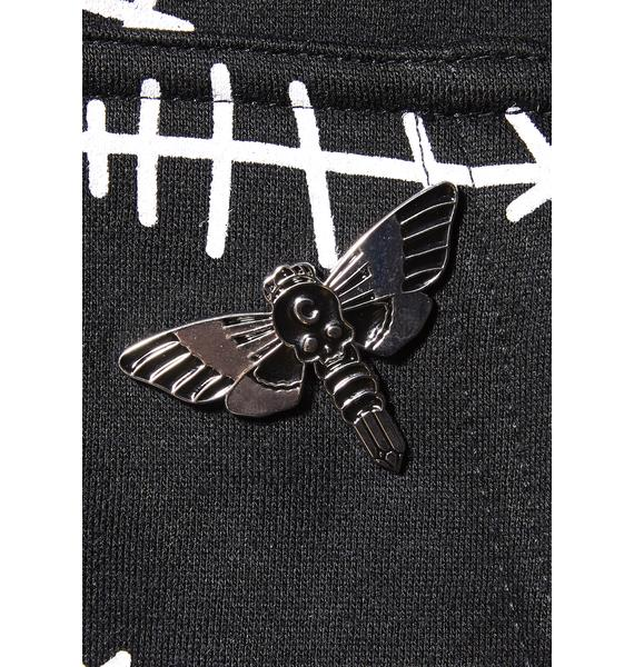 Killstar Moth Crystal Enamel Pin