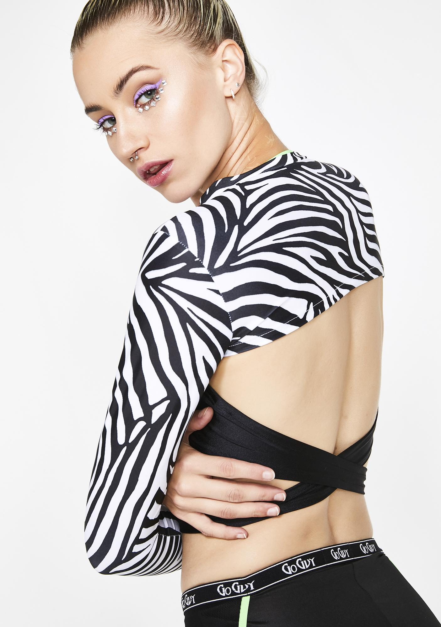 GoGuy Zebra Super Crop Top