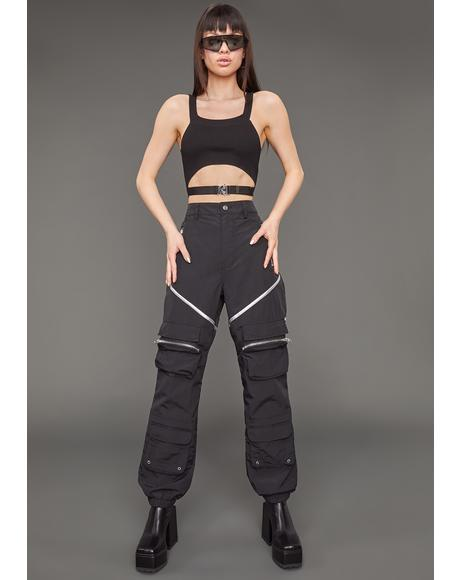 Make 'Em Sweat Nylon Cargo Pants