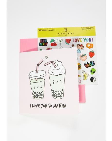 I Love You So Matcha Card