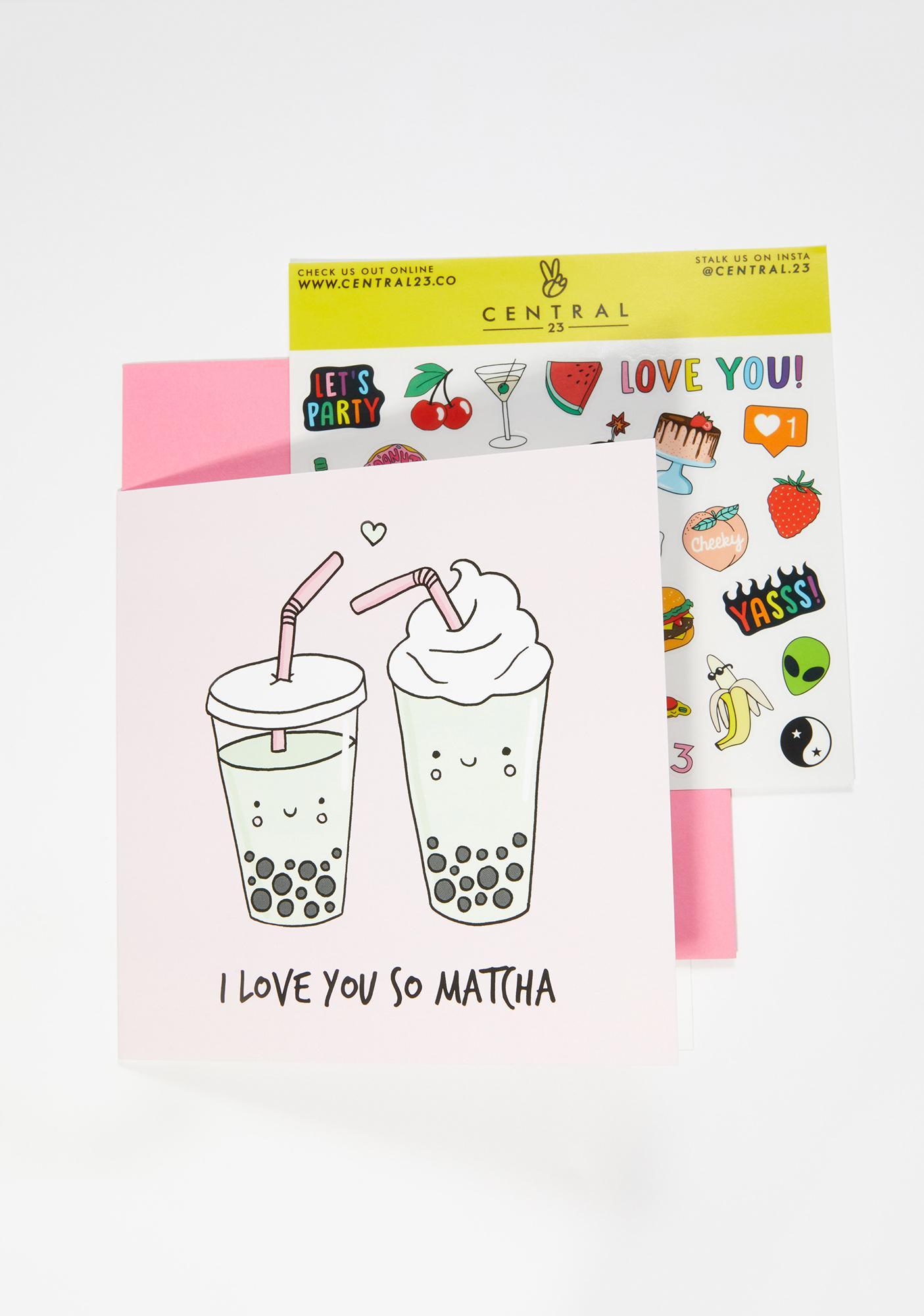 Central 23 I Love You So Matcha Card