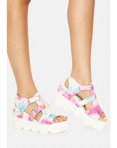 Tie Dye Outer Space Vibes Sandals