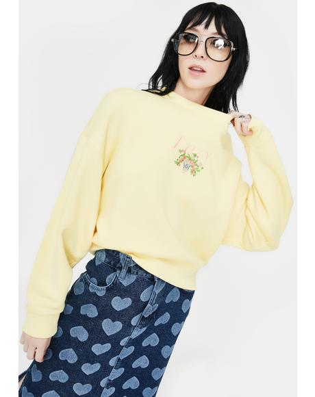 Lazy Vase Lemon Sweater