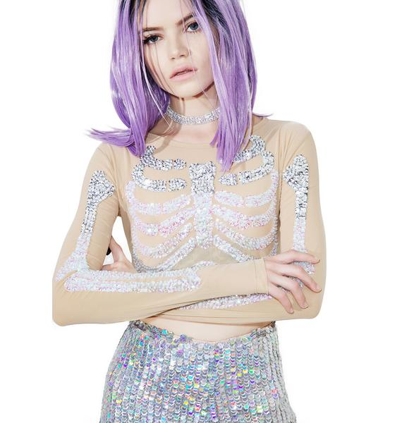 This Is A Love Song Sparkle Lite Death Crop Top