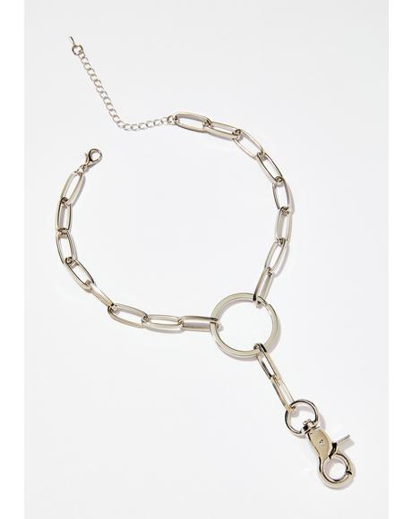 On The DL Chain Lariat Choker