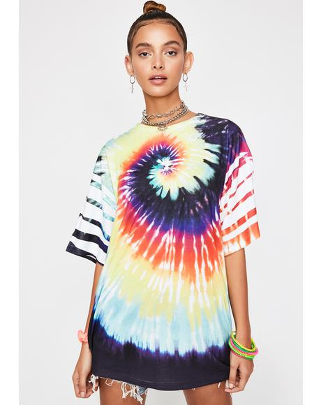 Wonderland Player Tie Dye Tee
