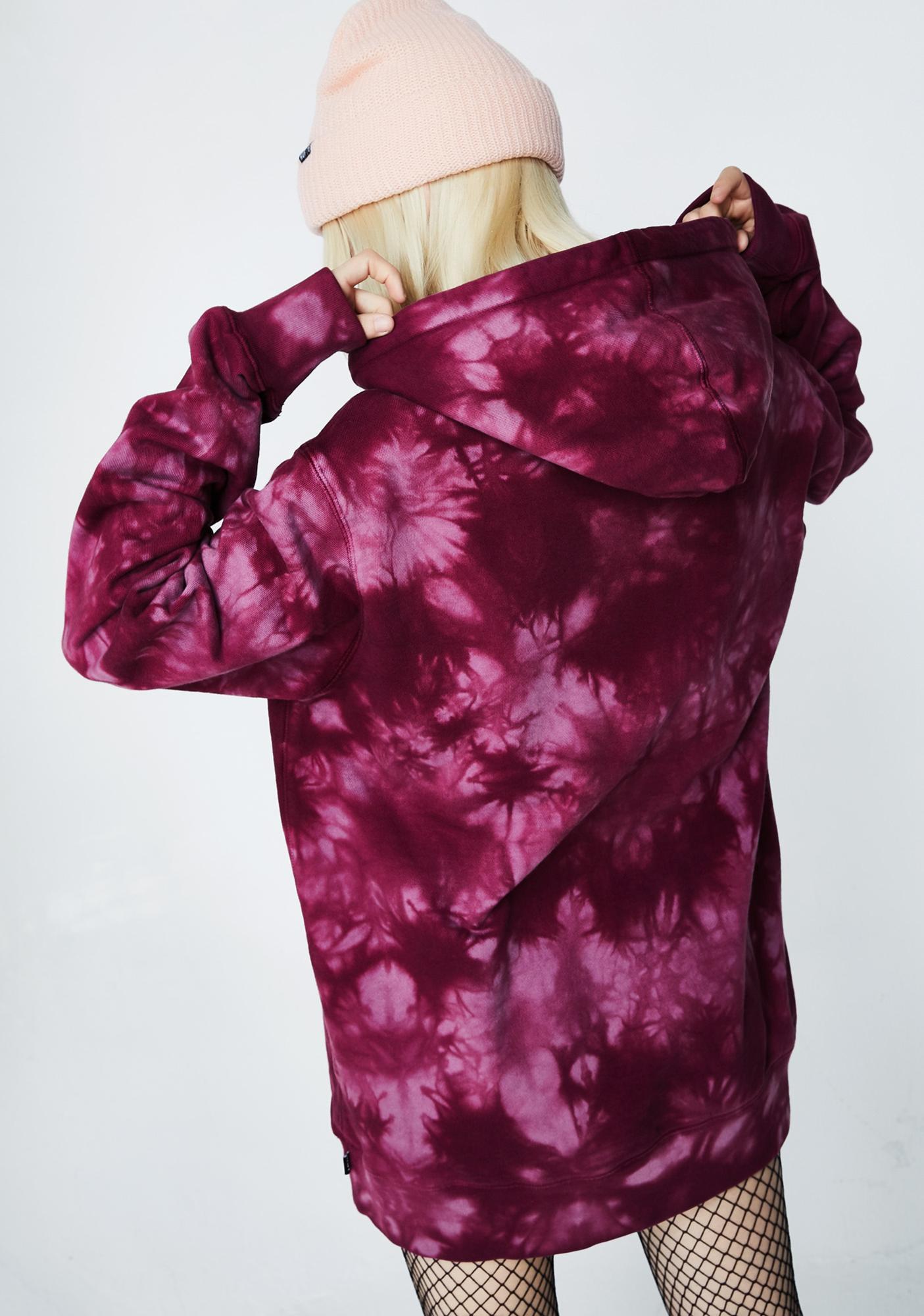 HUF Leary Tie Dye Pullover Hoodie
