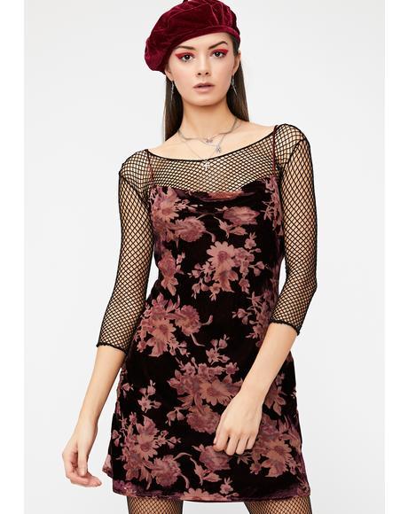Moonlit Magic Velvet Dress
