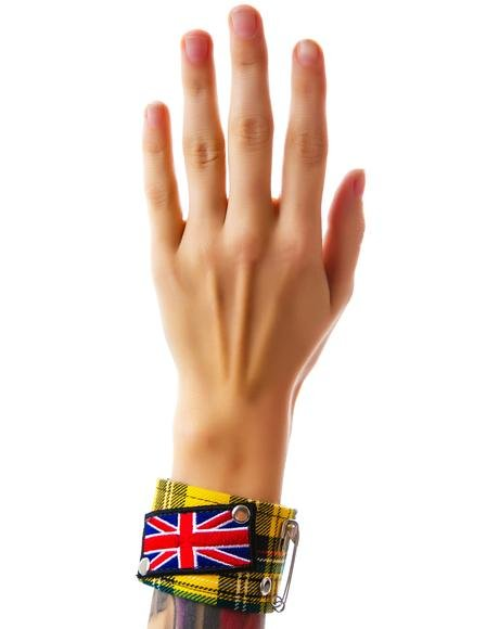God Save the Queen Plaid Bracelet