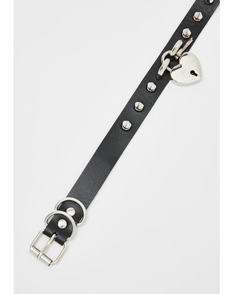 Love Captive Studded Choker