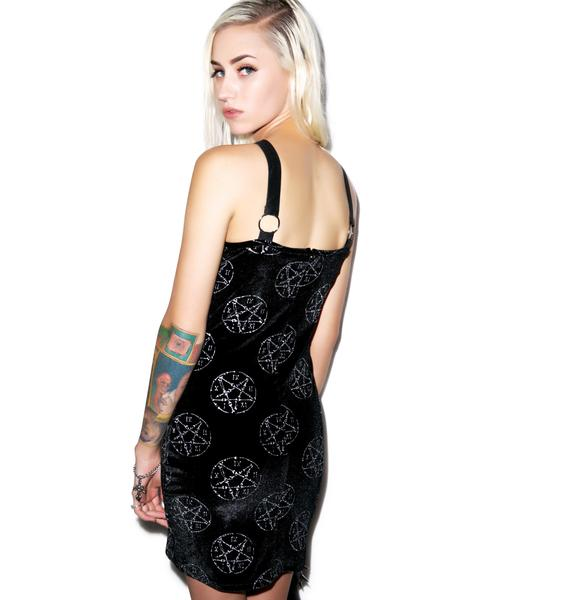 Too Fast Bone Pentagram Armor Dress