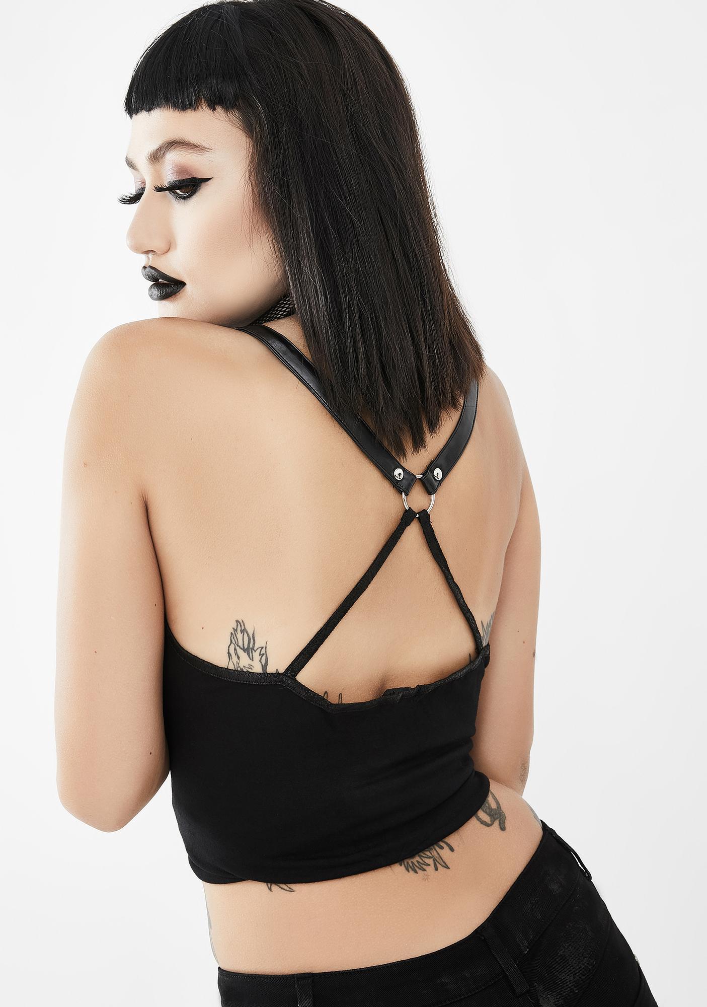 Devil Fashion Strappy Chain Tank Top