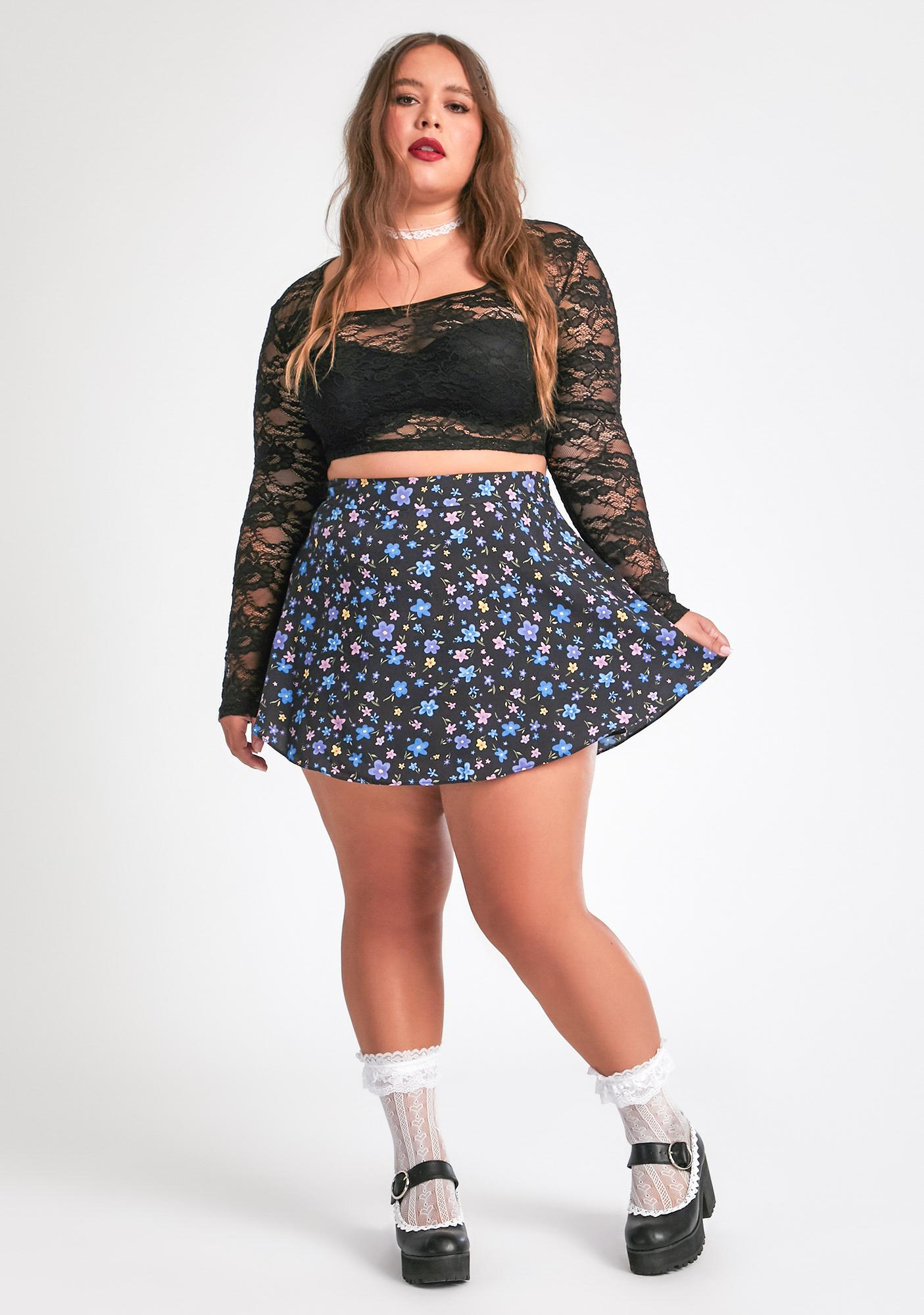 dELiA*s by Dolls Kill Stay In Your Good Graces Mini Skirt