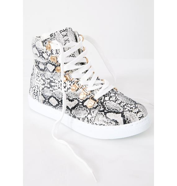 Serpent Babe High Top Sneakers