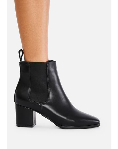 Dark Boy Please Pointed Boots