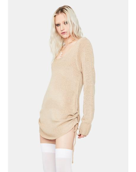 Mocha Keep It Movin' Knit Swing Dress